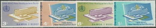 Samoa SG269-72 Inauguration of World Health Organisation Headquarters, Geneva set of 4